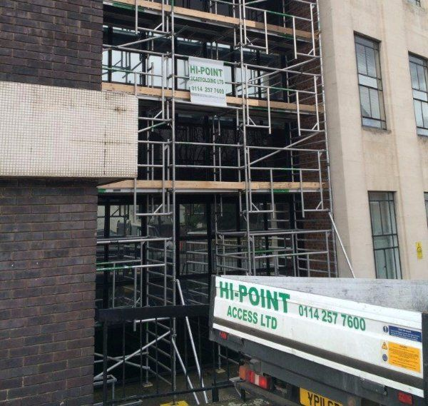 multi-storey building scaffolding