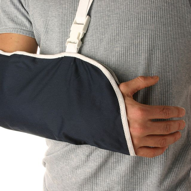 A man with an arm injury