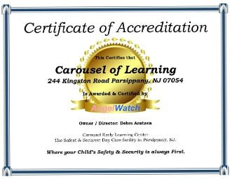 AngelWatch Center- Parsippany, NJ - Carousel Of Learning Pre-School
