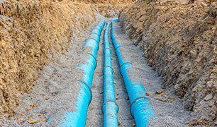 water supplying pipes