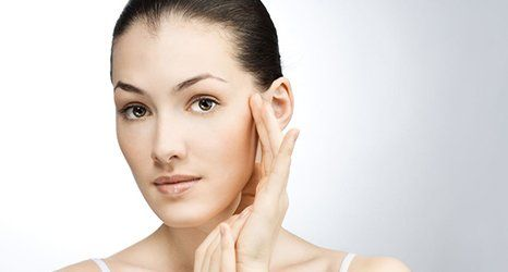 blemish-free face after the treatment