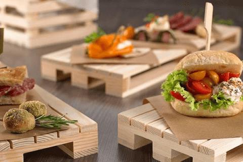 bancalini per alimenti e antipasti
