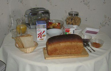 bread and other food items