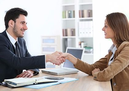 Small business accountant in consultation session with the customer in Lincoln, NE