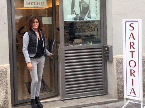il negozio della sartoria D'Amato a Foligno