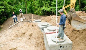 A septic tank repair project in Williamstown, KY