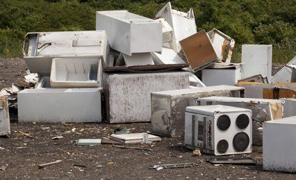 Scrap metal from household waste