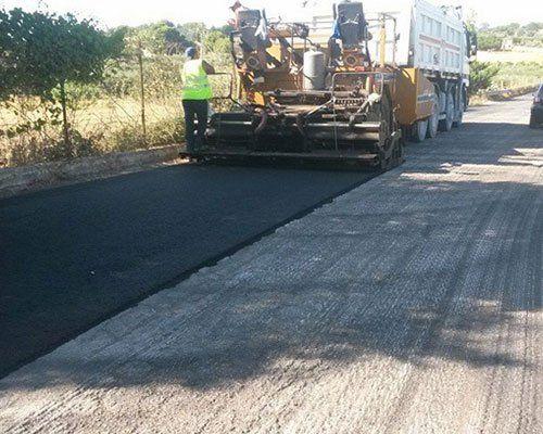 lavori di asfaltazione
