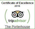 Trip Advisor Certificate of Excellence Porterhouse