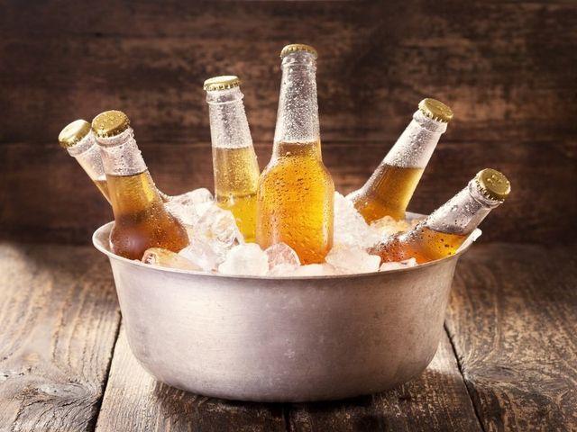 Birra in ghiaccio