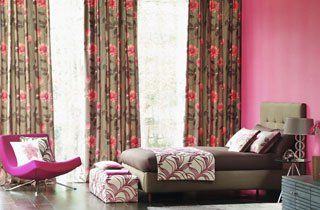 Colourful curtains