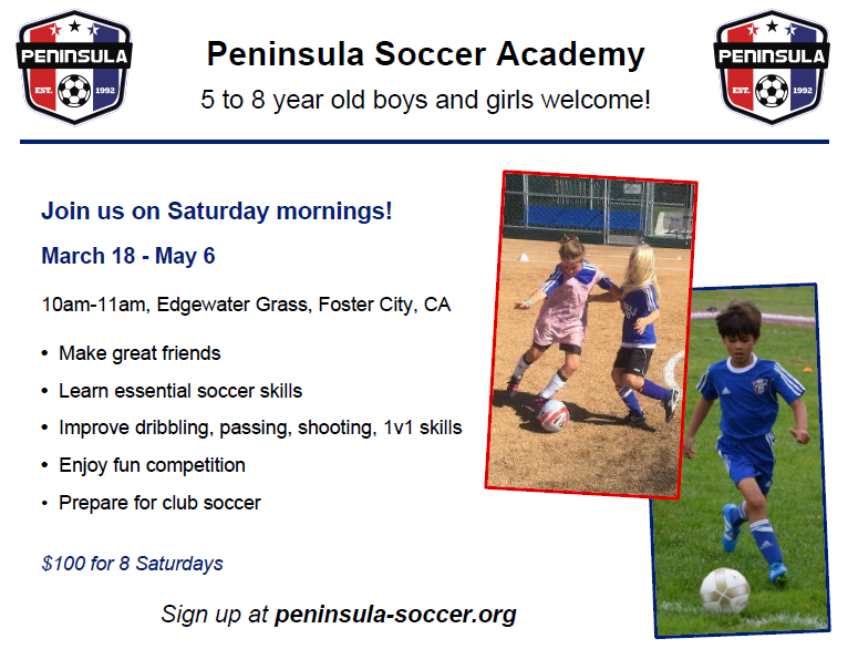 Winter Youth Soccer Camp - Peninsula Soccer Club