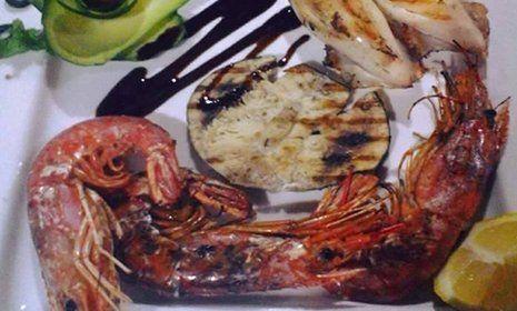 Gamberoni al forno presso La Cascinetta a Gerre De' Caprioli