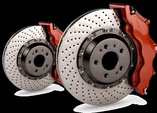 Two shiny brake discs