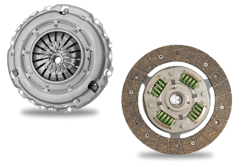 Two clutch pads