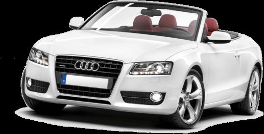 A classy white Audi