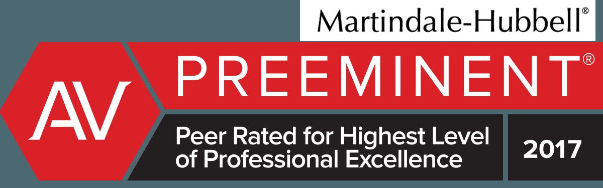 Martindale-Hubbell AV-Preeminent Rating