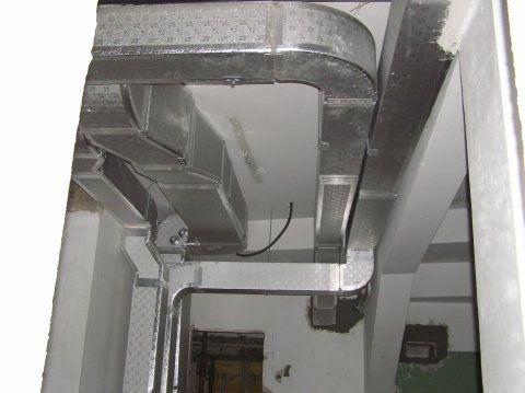 impianto di canalizzazione dell'aria