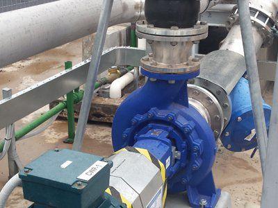 blue pump system