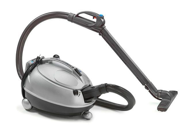 Piccolo aspiratore a vapore di colore grigio per residenze particolari