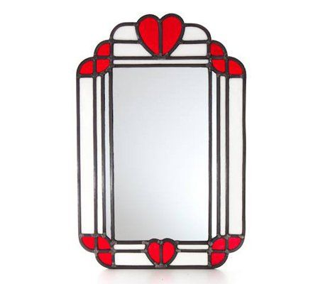 red heart shaped glass design