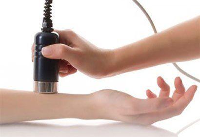 terapia ultrasuoni su braccio