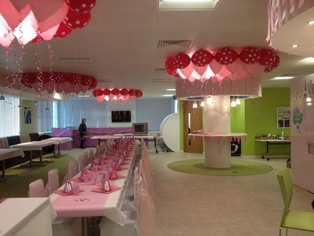 interior decoration with balloons