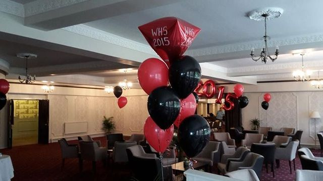 interior decorated balloons