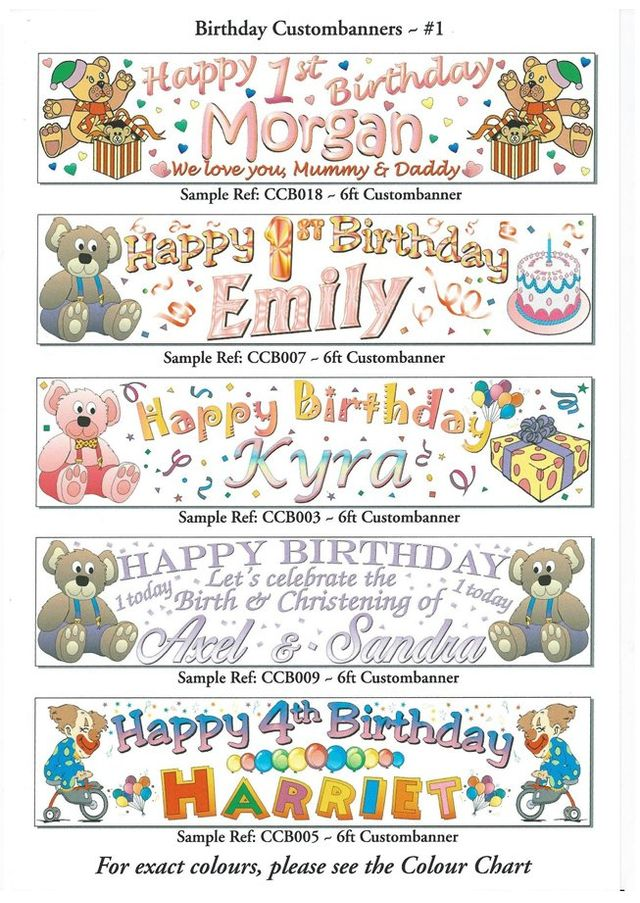 banners for parties