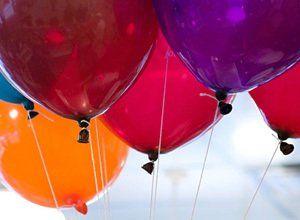 Helium hire balloons