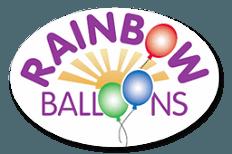 Rainbow balloons logo
