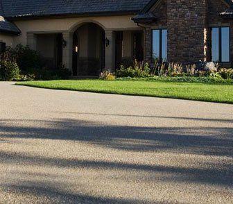 An aggregate driveway