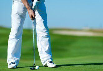 Soft turf on a golf putting green