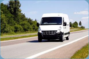 Windscreen van on the road