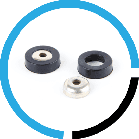 circular rubber components