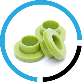 green rubber mouldings