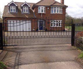 Powder coated gates