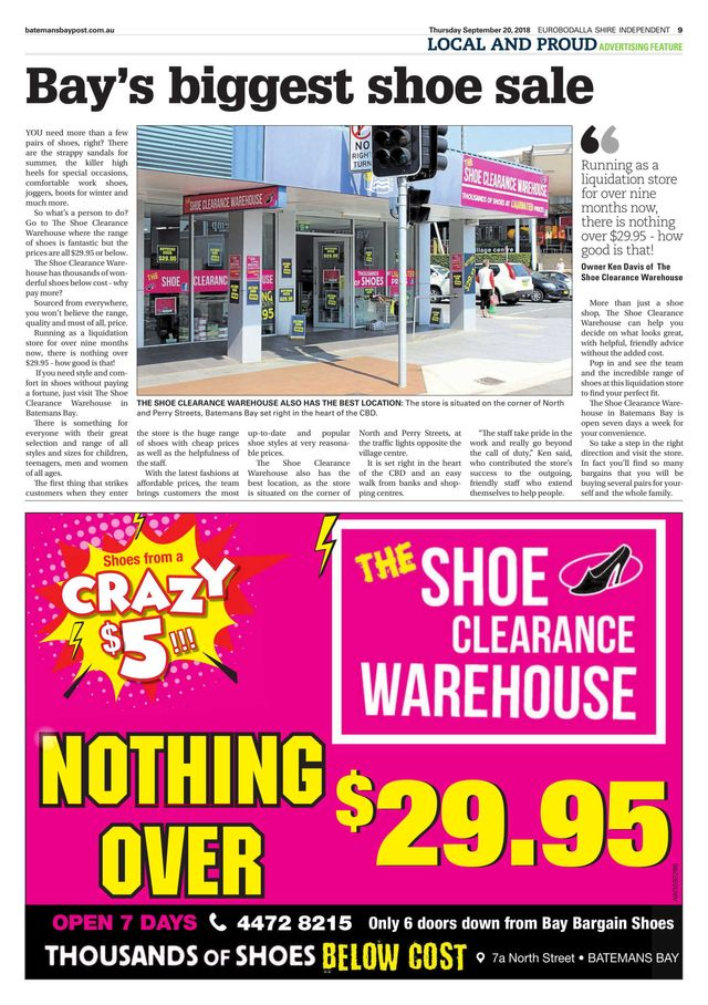 0b68981135f Bay Bargain Shoes - Batemans Bay -Clearance Store.