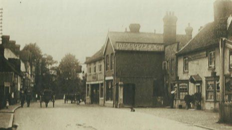 An old picture of the pub