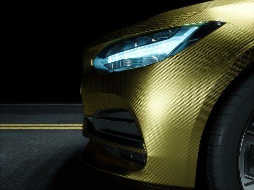 Auto di colore dorato personalizzato