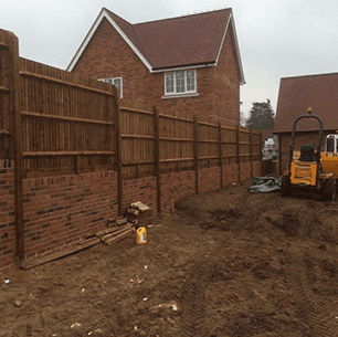 groundwork being carried out