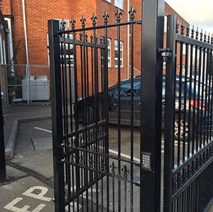 steel black fencing
