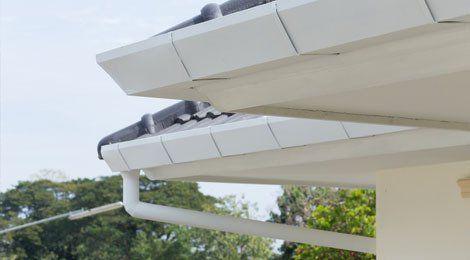White uPVC fascias on a grey roof