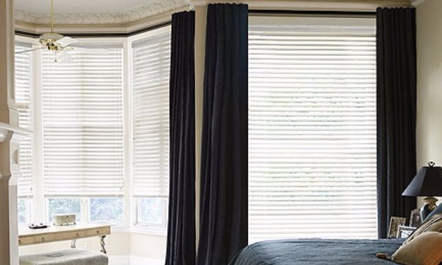 Blinds in a Livingroom - Window Coverings