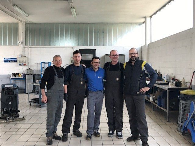 Lo staff dell'officina