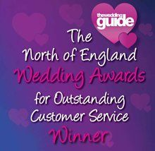 THE WEDDING GUIDE WINNERS OUTSTANDING CUSTOMER SERVICE