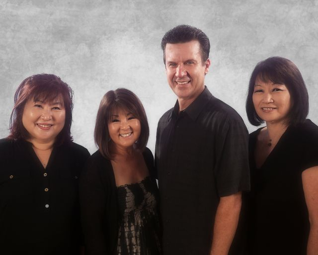 A group of our friendly staff at Platinum Dental Hawaii