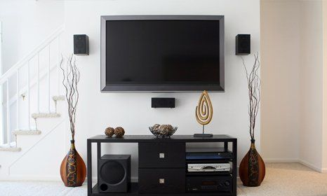 Secured TV-mounting