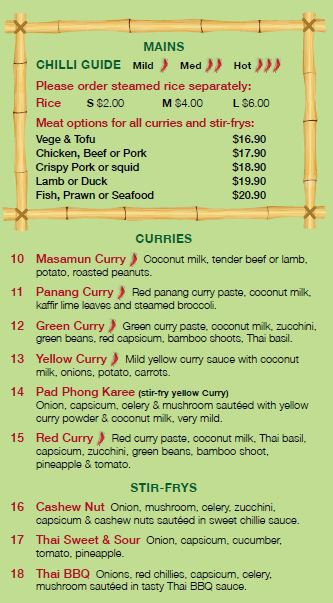thai food curries