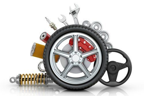 Pneumatico con strumenti per riparare l`auto